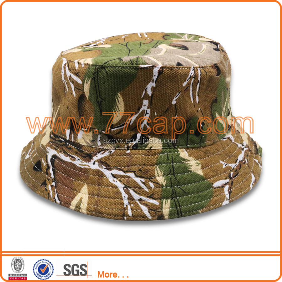 Hot china products wholesale Camo bucket hats for men women