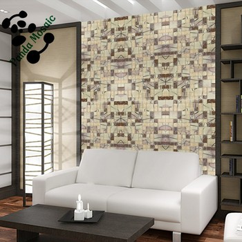 smj03 brown antique style bumpy surface roman pattern mosaic for wall decoration living room hotel decorative