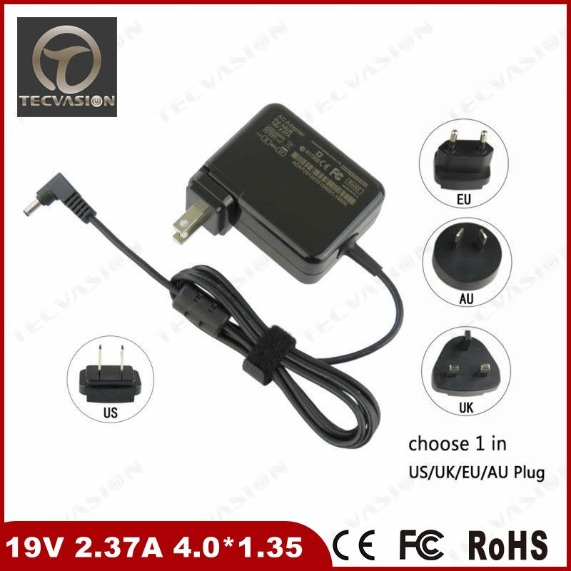shenzhen wholesale 45w ac dc adapter power charger dc 4.0*1.35mm laptop charger for asus eee pc
