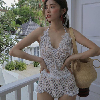 Sexy Lace  Women Bodysuit Jumpsuit Summer Cut Out Rompers Club Women Underwear Body Top Overalls Sexy Lingerie Feminino