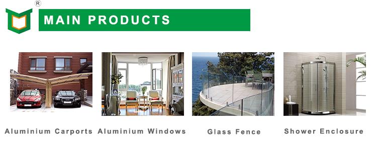 Swing-out porta de batente de alumínio com vidros duplos e hardware de alta qualidade