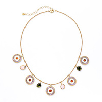 xl01420c A String Disco Pendant Bohemian Choker Statement Necklace Online Shop China