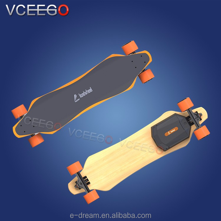 Adult off road assemble electric skateboard hub motor with blank skateboard deck for DIY