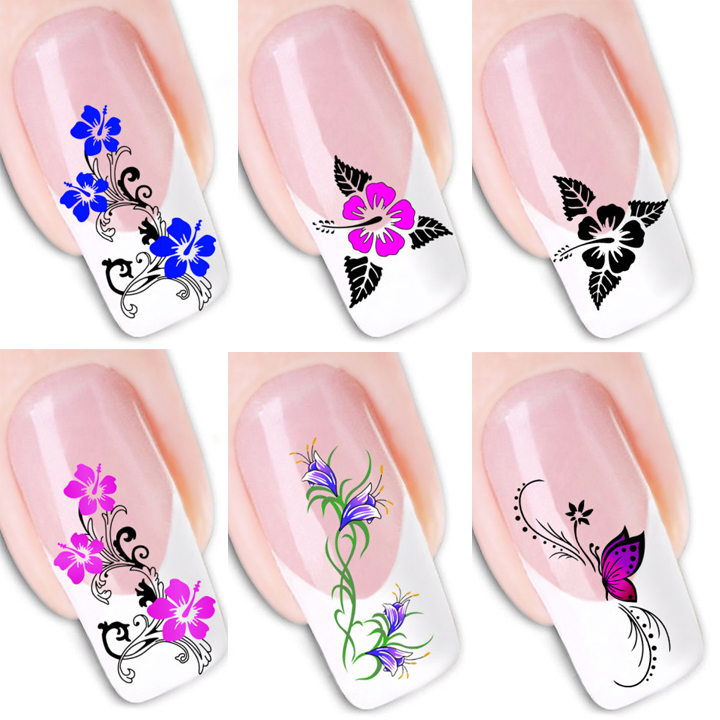 Water Transfer Nail Sticker Wall Sticker 3d Colored Nail Sticker ...