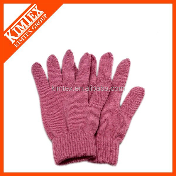 Wholesale acrylic cheap kid knit winter glove factory