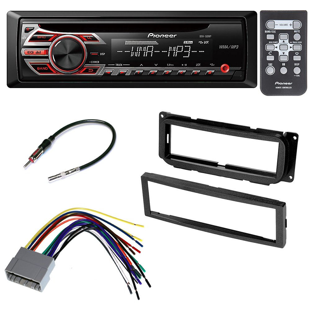 CAR STEREO RADIO CD PLAYER RECEIVER INSTALL MOUNT KIT HARNESS RADIO ANTENNA ADAPTER FOR CHRYSLER JEEP DODGE 2002 2003 2004 2005 2006 2007 2008 2009