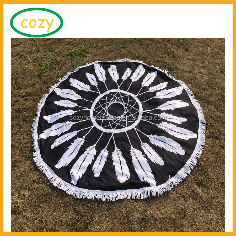 2017 Amazon Hot Sale Geometric Round Wall Hanging Throw Microfiber Towel Tapestry Tablecloth Oversize Printed Bath Towel