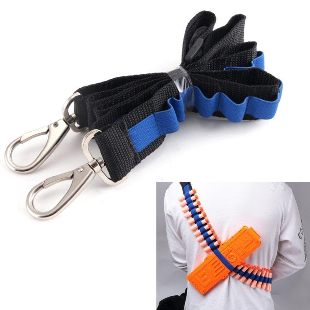 Yosoo Bandolier Toy Gun Soft Bullets Storage Shoulder Belt Strap For Nerf N-strike Blasters Cartridge Holder