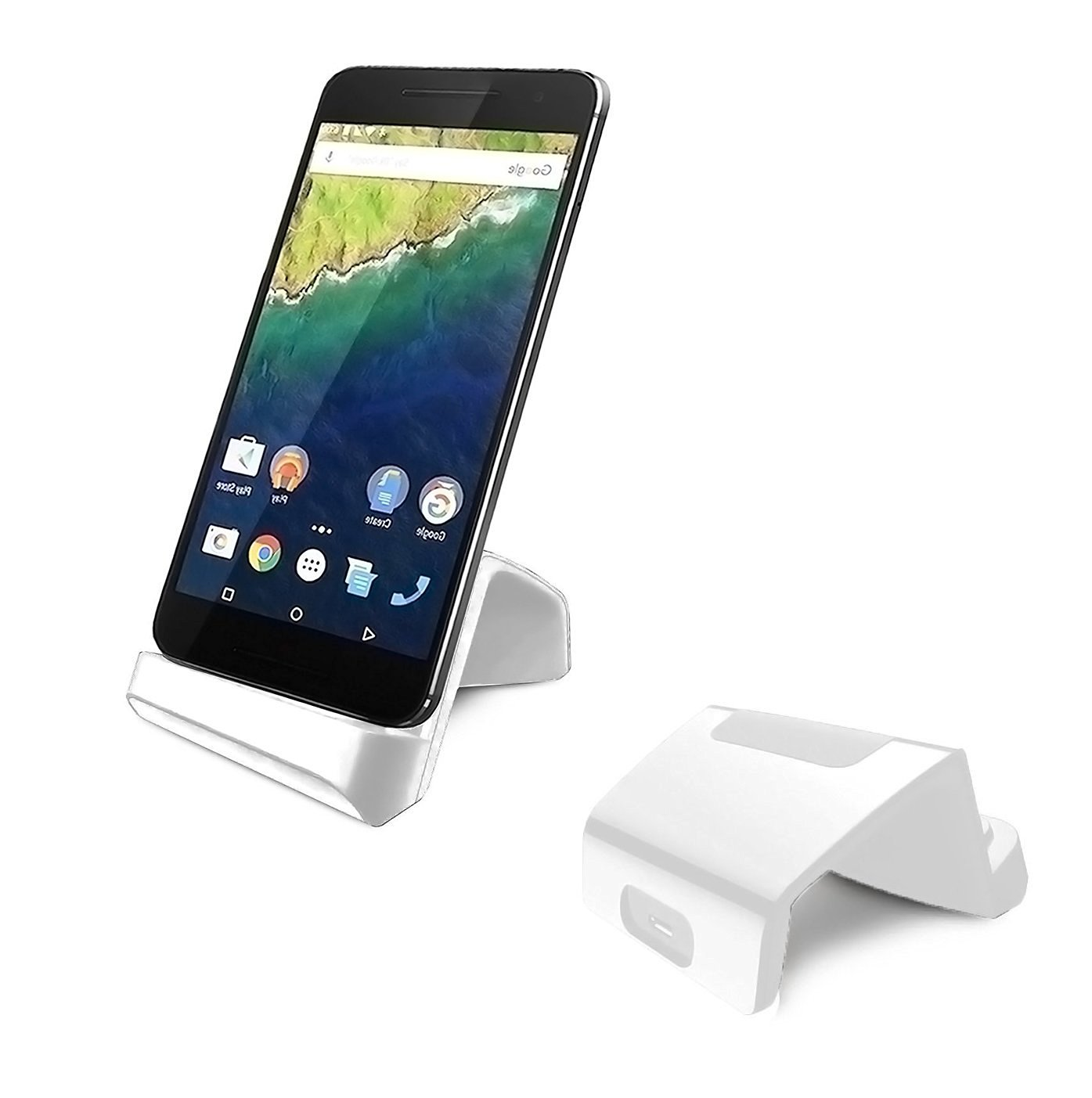Type C Dock, Geekercity USB Type C Charging Dock Cellphone Stand Cradle for LG G5, HTC ONE A9, HP Elite X3, Nexus5X, Nexus 6P, Droid Turbo 2, Microsoft Lumia 950 950XL (White)