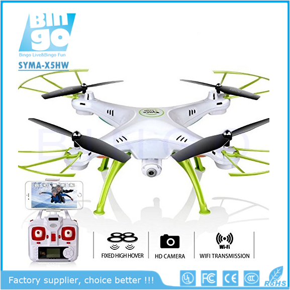 Bingo SYMA X5HW FPV 4-Channel 2.4Ghz Headless UFO with Hover Function HD Wifi Camera RC Quadcopter Drone