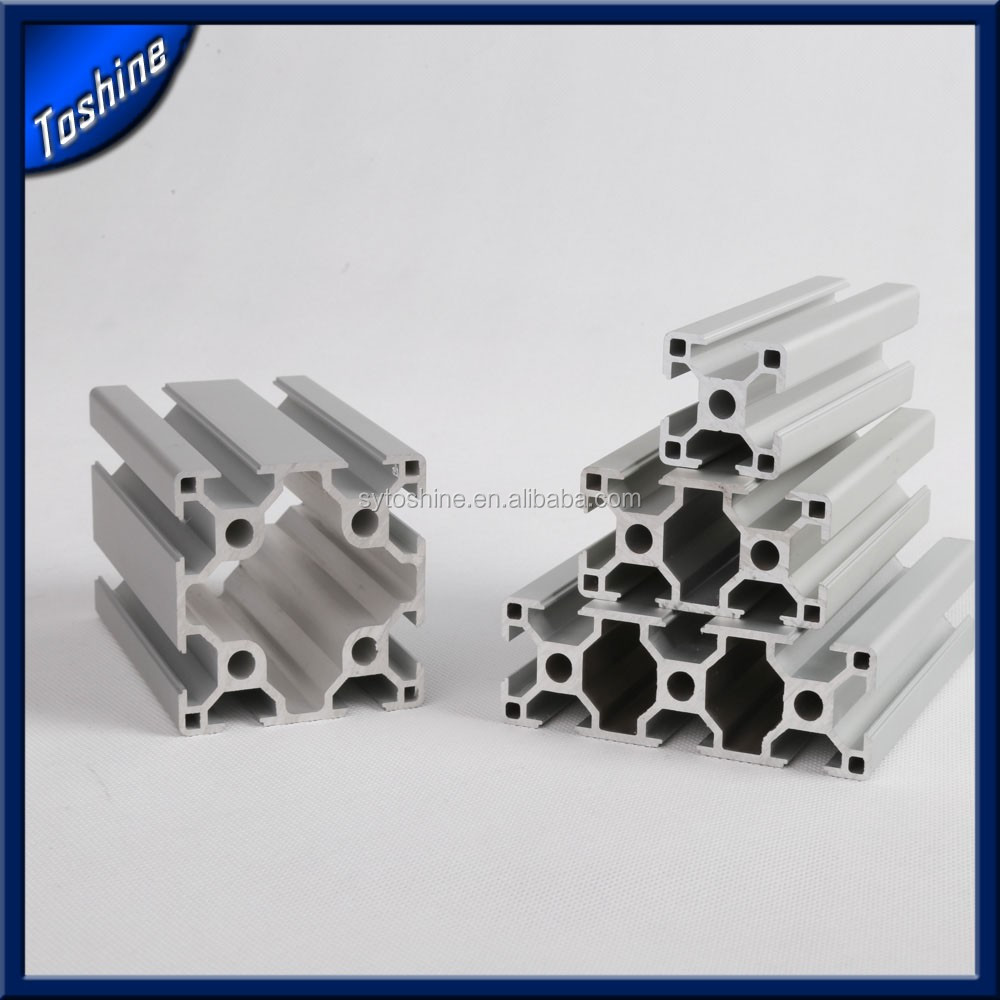 Anodized aluminum profiles for industrial mechanical structural framework profile heavy duty aluminium extrusion
