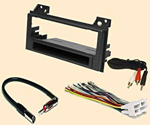 Chevy chevrolet S10 pickup 1994 1995 1996 1997 - GMC Sonoma (94 95 96 97), Jimmy (1996-1997) Isuzu Hombre (96-97) -Oldsmobile Bravada (96-97) - Stereo wiring Harness, Dash Install Kit Faceplate, with FM Antenna Adaptor (Combo Complete Aftermarket Stereo Wire and Installation Kit)
