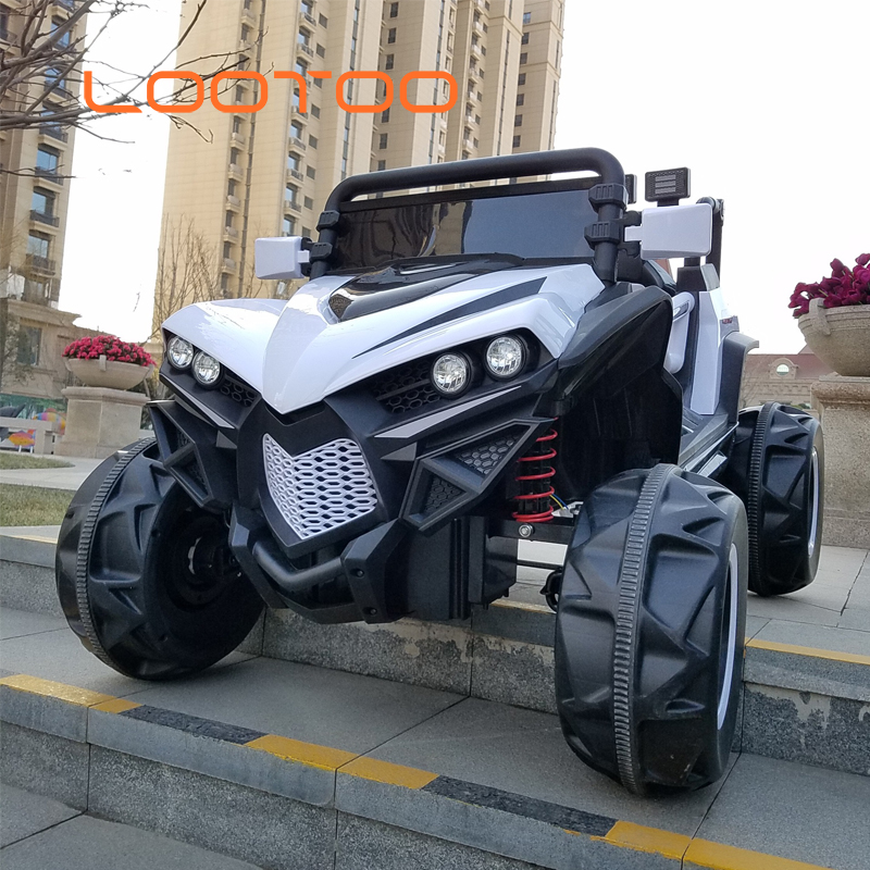 Licensed electric ride on vehicles toy to drive 2 seats motorized cars for kids 5 year old with parent remote control and music