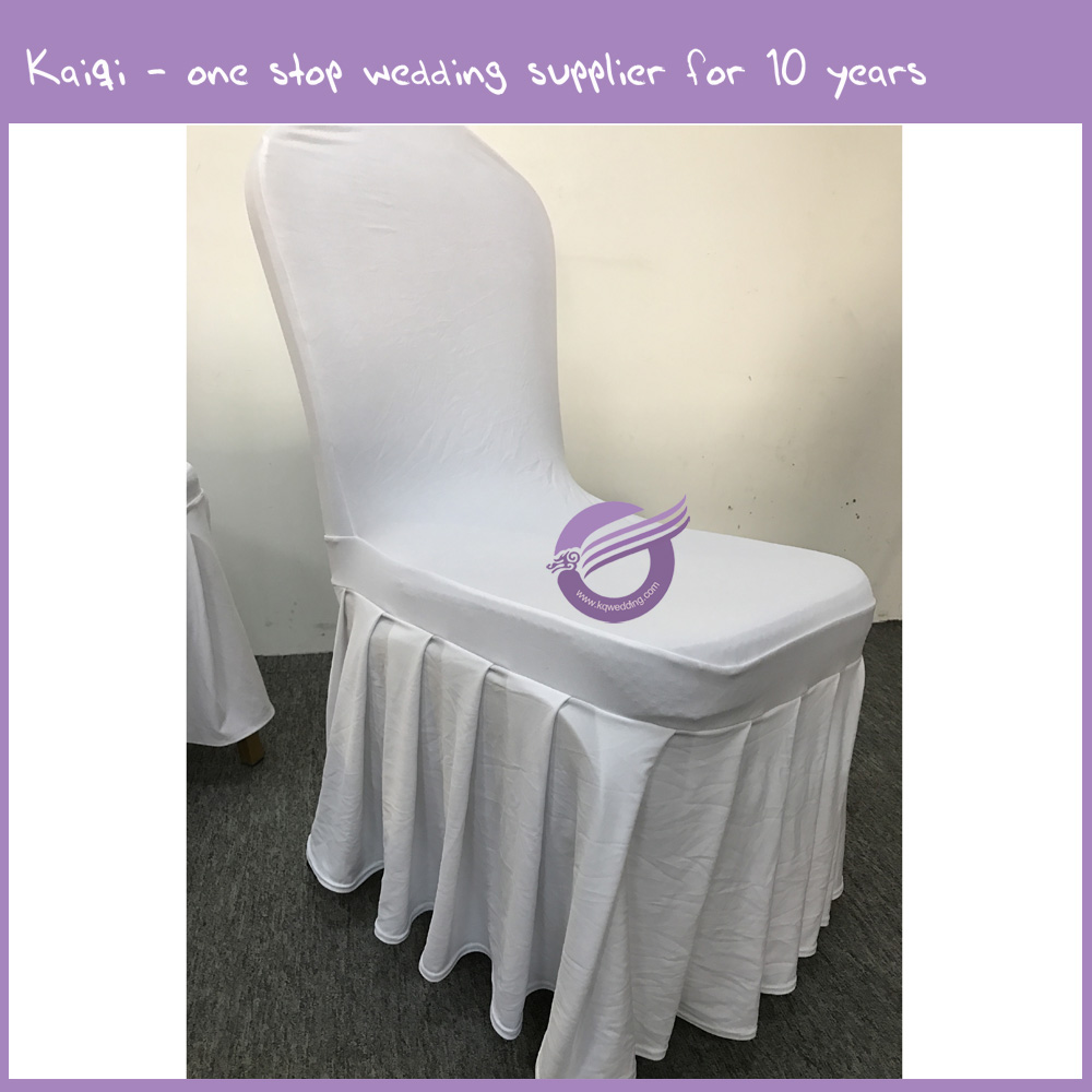 ka419 cheap factory ruffled wedding spandex lycra chair covers view