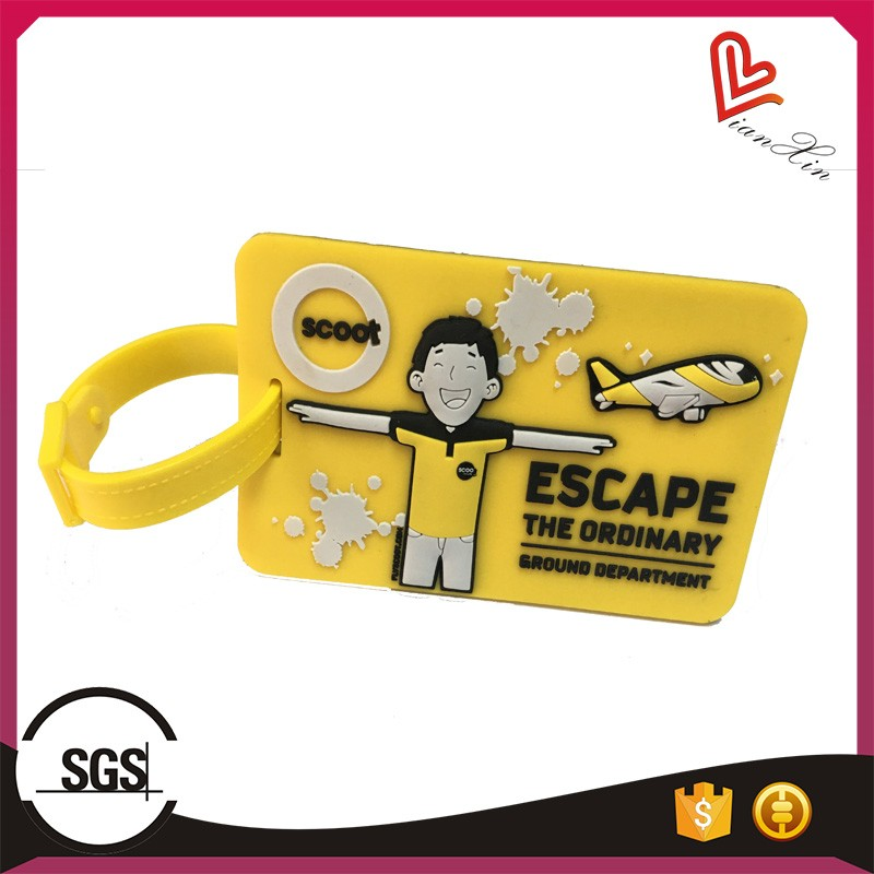Hot Selling Custom 3D Soft PVC Luggage Tag