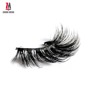 3d Best Mink And Fiber Invisible Band Free Lash Card Fashionable Fremade Softness New Product Mink Eyelashes