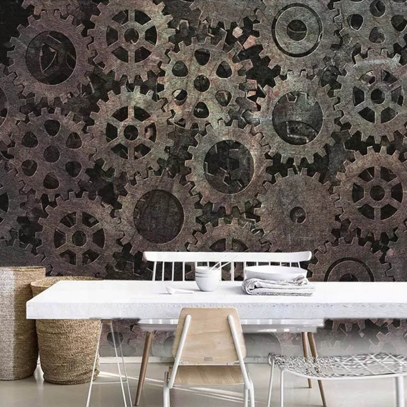 Custom 3D Mural Room Wall Covering Vintage Metallic Photo Thai Art Wallpaper  Tree Wallpaper Tulisan Korea 865c1ec75009