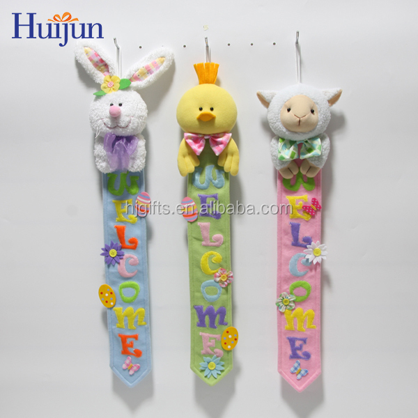 2017 Wall Hanging Plush Easter Bunny for Home Decoration