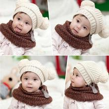 5 colors playboy hat Cute Baby Kids Girl Boy Dual Balls Warm Winter Knitted Hat Luffy