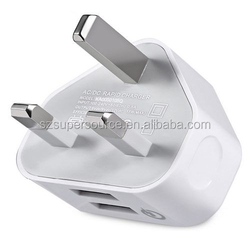 qc 2.0 uk plug Portable universal dual port travel wall micro USB cell phone charger with OEM