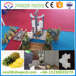 stainless steel pineapple peeler/corer/slicerfor food/fruit processing machine from cool@shwpcd.com