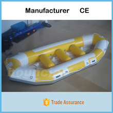 New Style PVC Tarpaulin White Water Raft / Inflatable River Rafting Boat Price