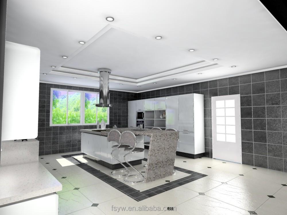 High gloss laca mueble cocina mdf board kithcen gabinete cocinas ...