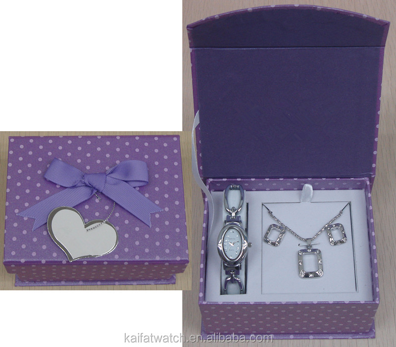 watch and gift sets factory wholesale ladies watch gift set for importers