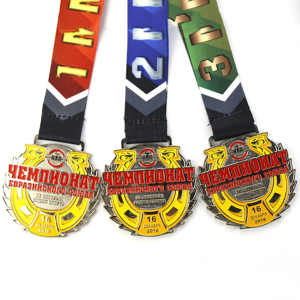 Manufacture Custom Awards Running Sports Medal Ribbon Holder Display Hanger