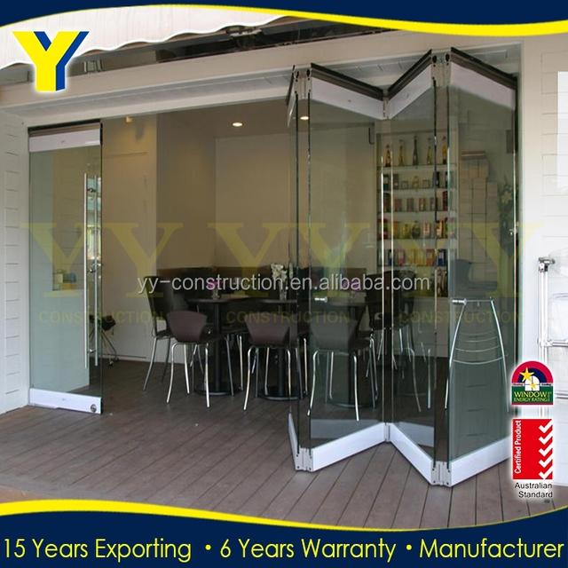 Frameless Glass Folding Doors/used Sliding Glass Doors Sale/main Entrance  Door Design