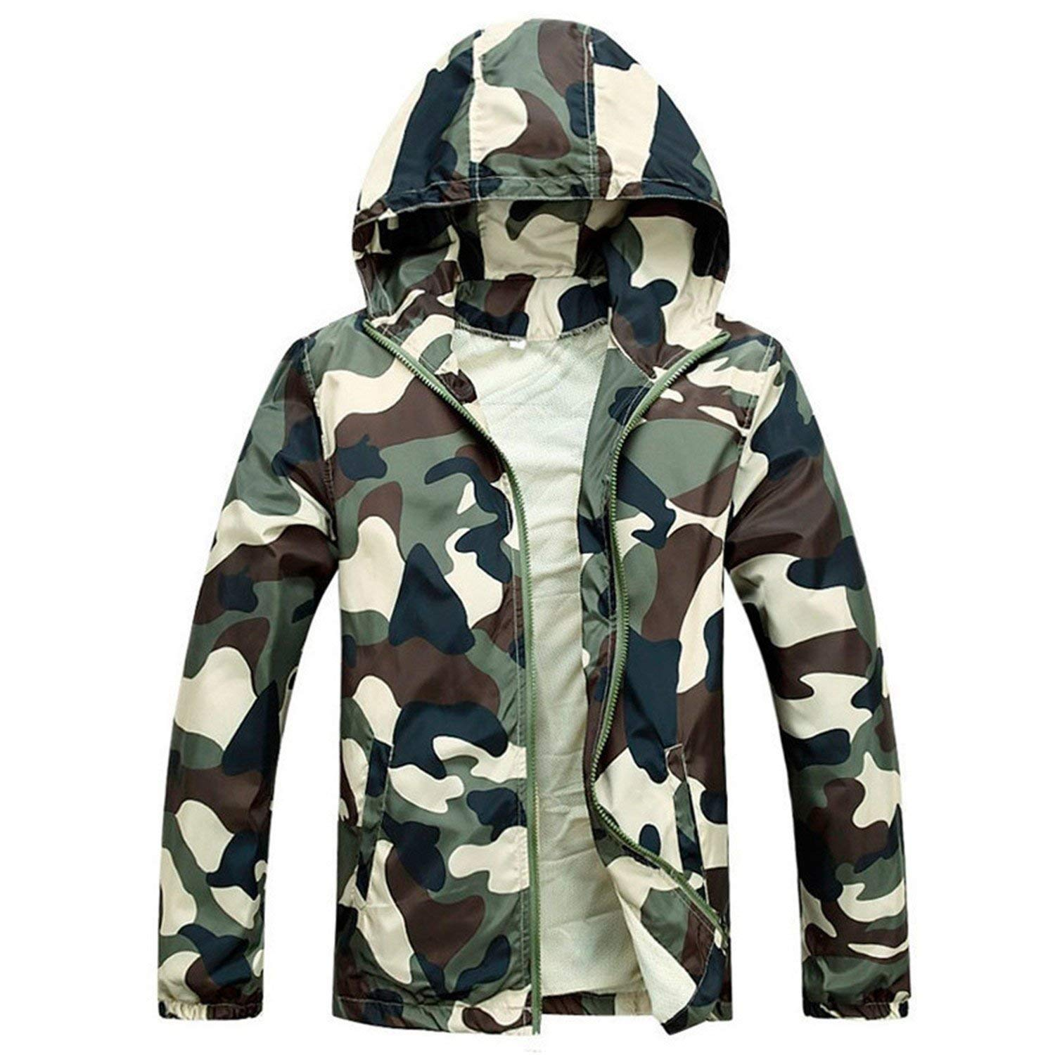 Roxacam Faomgo Hot Selling 2017 Camouflage Jacket Summer Tide Male Hooded Thin Sunscreen Coat Wholesale