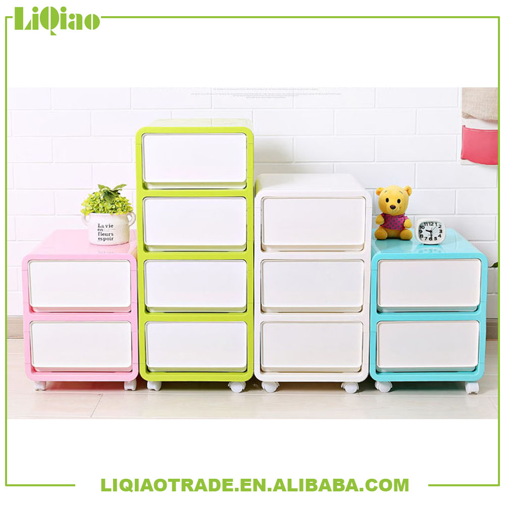 Colorful adjustable multi-layer combination plastic drawer storage box