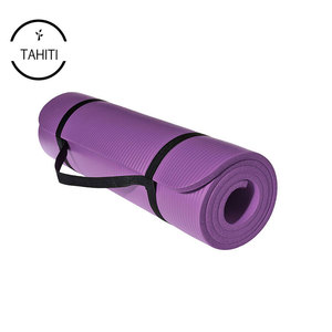 Non Slip Textured Surface Reversible Dual Color Eco Friendly with Carrying Strap Thick Exercise Work Yoga Mat
