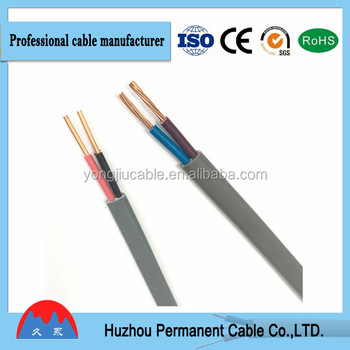 2 Cores flat Electric Wire CCA Cooper
