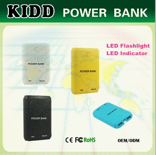 KIDD ROHS smart power bank 6600mah with manual instruction