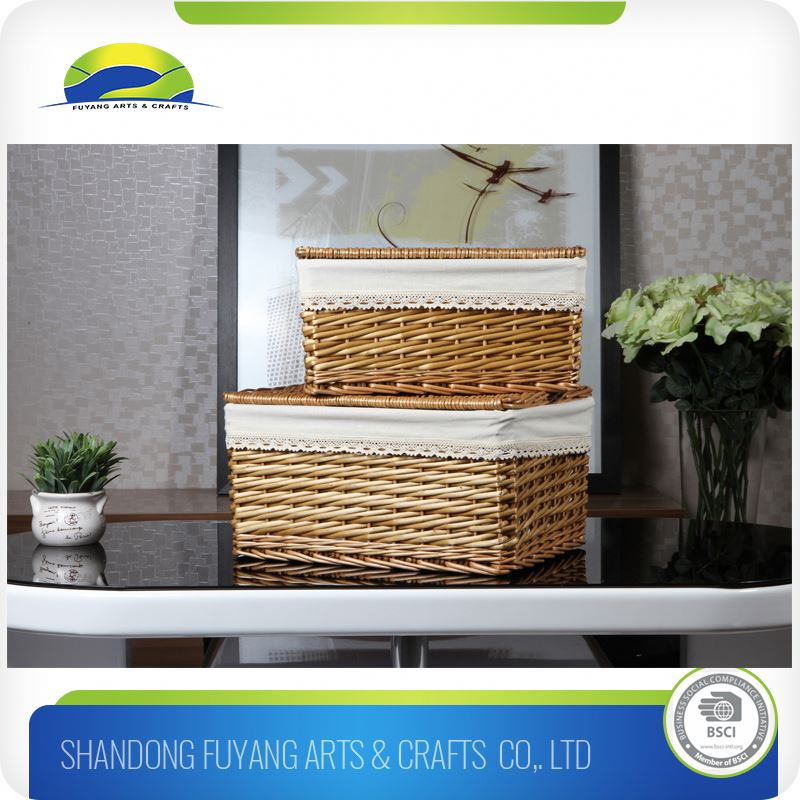 Foldable Bamboo Kitchen Storage Fruit Basket