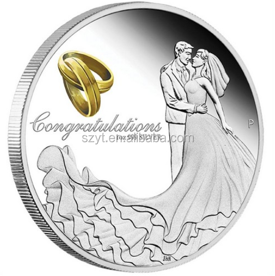 Factory Price Custom Wedding Coins With Silver Plated Coin Product On Alibaba