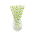Hot selling disposable party drinking straw telescopic polka dot drinking paper straw