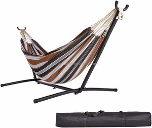 Woqi Outdoor Portable Folding Hammock Swing Chair With Frame Stand And Carrying Bag