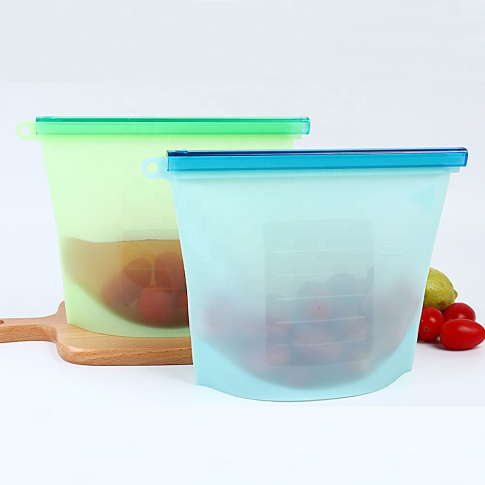 Alibaba.com / Reusable Home Food Sealing Container Silicone Food Fresh Vegetable Storage Bags