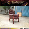 antique leather armchair for living room PFC15106