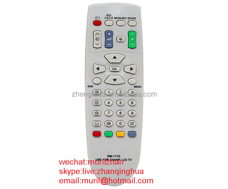 High Quality White 38 Key RM-717G REMOTE CONTROL for Sharpe LCD TV also suit GA364WJSA