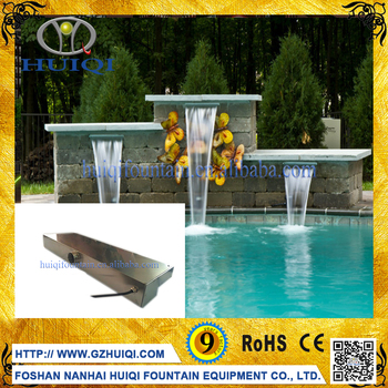 Decorative Water Fountains Waterfall Wall Indoor Floor Fountain With RGB  LED Light