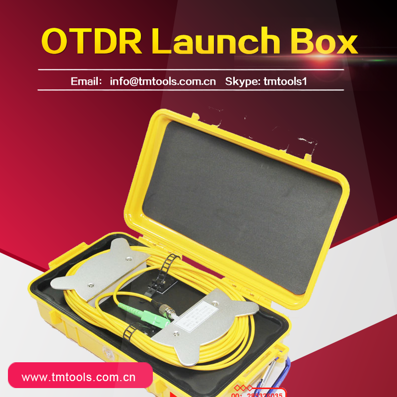 TM1000 OTDR Launch Cable Box, FCA to FC/APC Connector, Single Mode , 500 meters