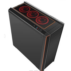 Computer Tower Case Gamer Chassis Colorful RGB light bar ATX Gaming Desktop Case