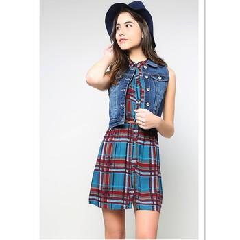 Fashionable Style Women Sleeveless Denim Jacket - Buy Women ...