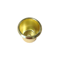 Chinese circle brass plated Tealight candle cup holder for home decorative
