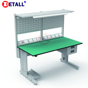 Customized Detall Computer Standard Steel Workbench With Drawer