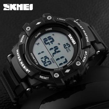 b34eb99f9f9 Melhor venda Skmei 1128 clássico mens 2 alarme relógio digital esportes  pedômetro ...