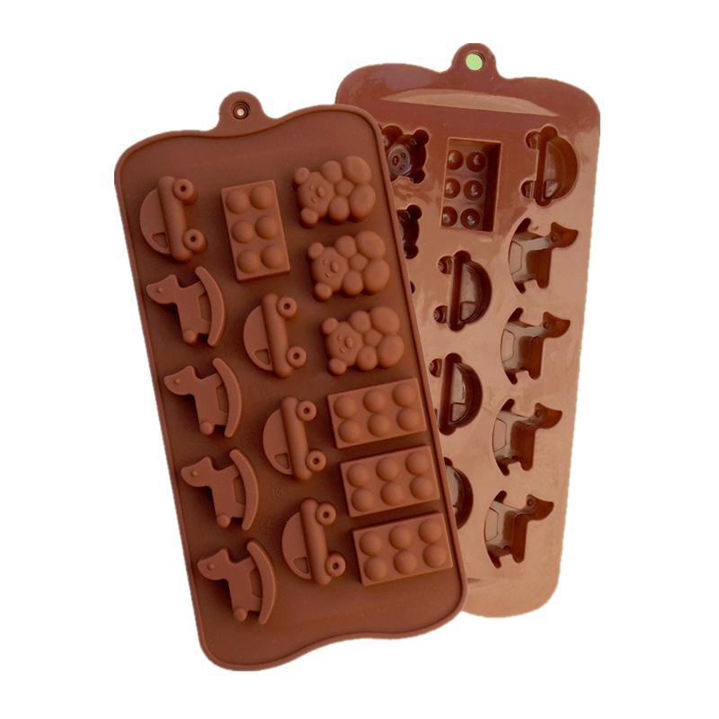 petit ours en bois cheval voiture chocolat en forme moisissure de qualit alimentaire silicone. Black Bedroom Furniture Sets. Home Design Ideas